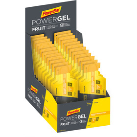 PowerBar PowerGel Fruit Sacoche 24x41g, Mango-Passion Fruit with Caffeine